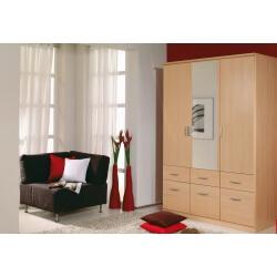 Armoire 3 portes & 6 tiroirs LAETITIA