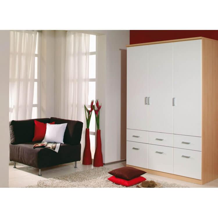 Armoire 3 portes & 6 tiroirs LAETITIA II