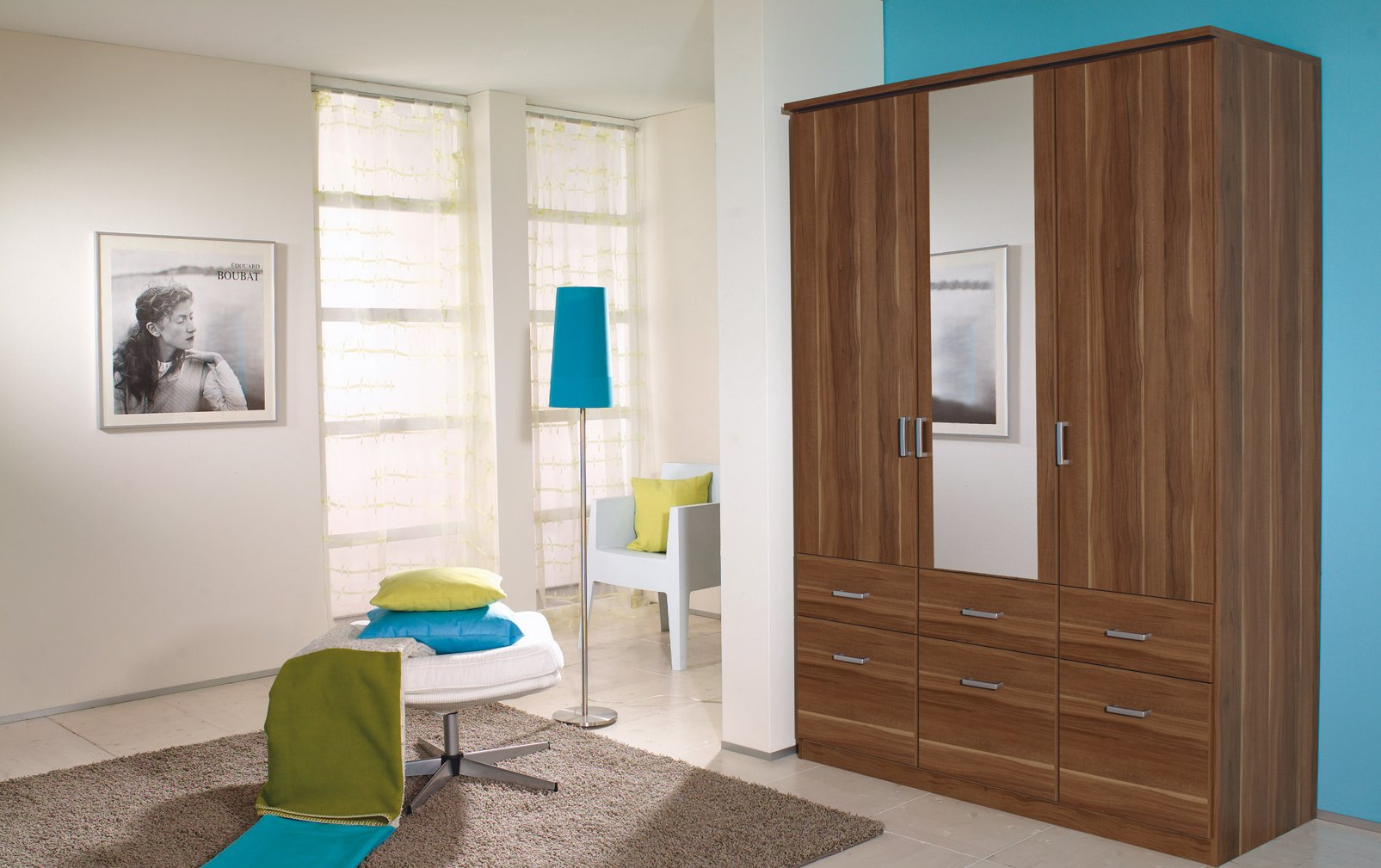 Armoire 3 portes & 6 tiroirs MEMPHIS