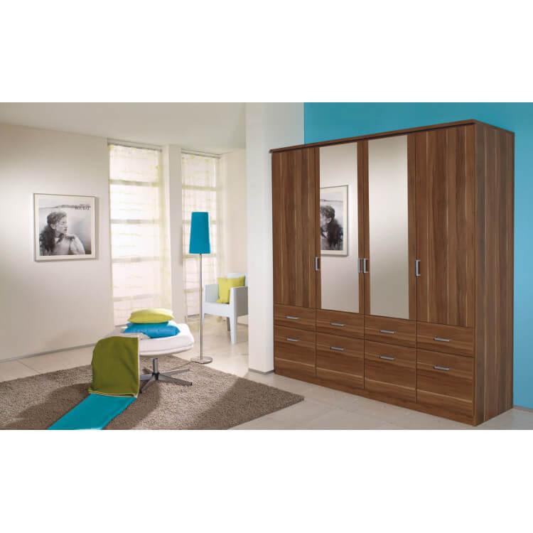 Armoire 4 portes & 8 tiroirs MEMPHIS II