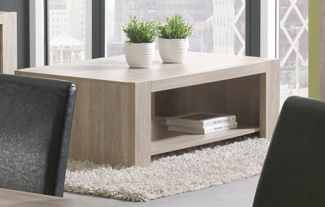 Table basse contemporaine chêne rustique Lilo