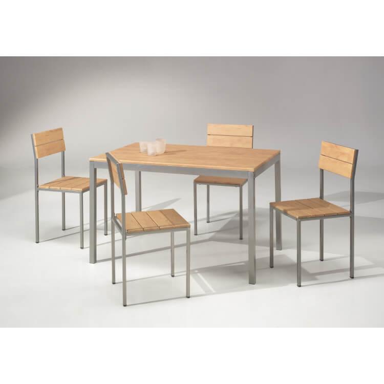 Ensemble table de cuisine et 4 chaises YONNE