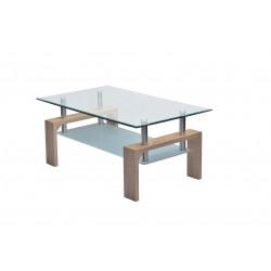 Table basse design métal et verre Organza
