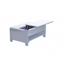 Table basse design laquée blanche Kevina