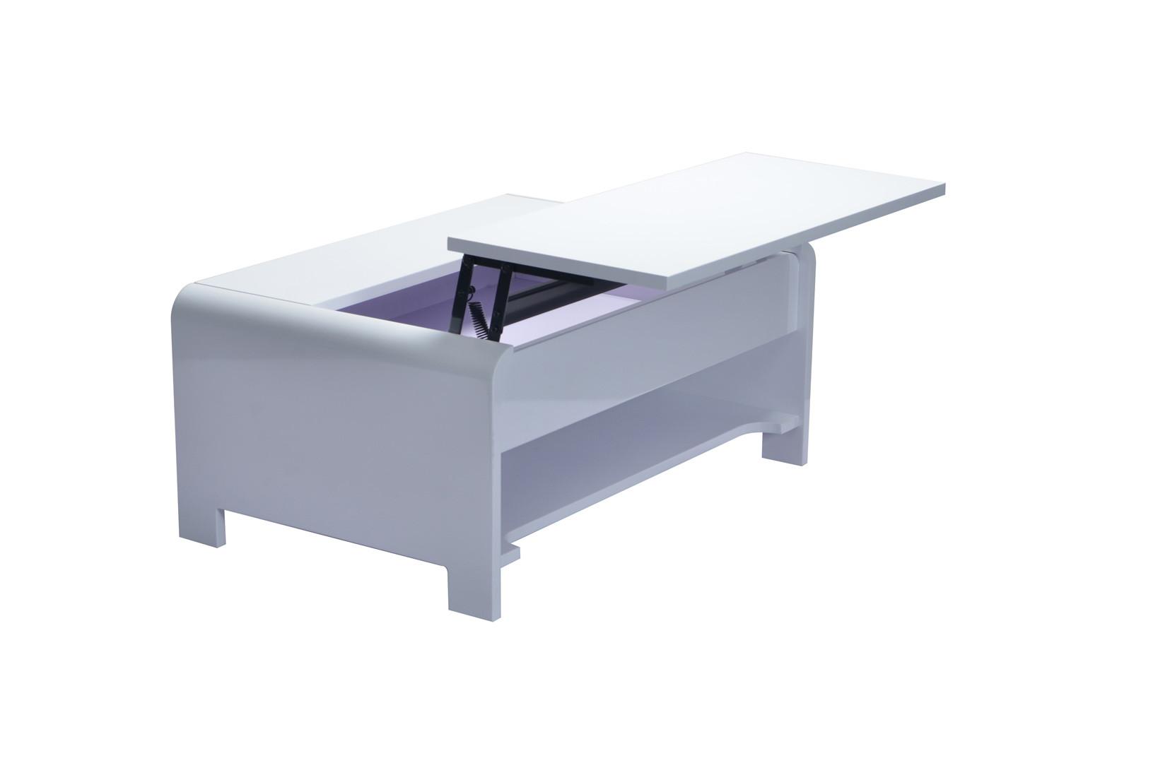 Table basse design laquée blanche Kevina