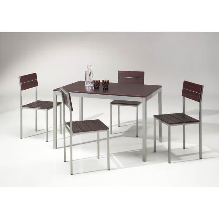 Ensemble table de cuisine et 4 chaises LANDES