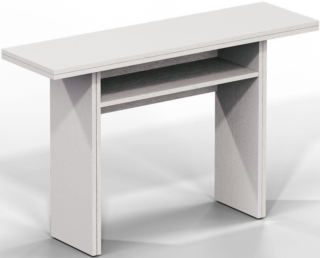 Table console extensible contemporaine en bois Selena