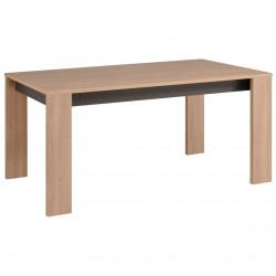 Table de salle à manger contemporaine chêne clair/gris Becca