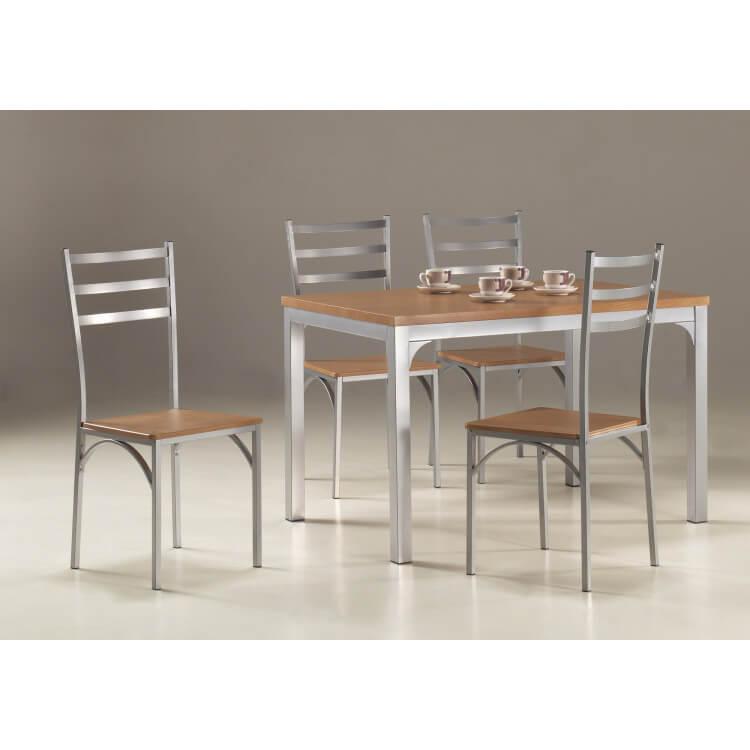 Ensemble table de cuisine et 4 chaises INDRE