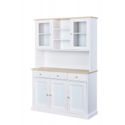 Vaisselier contemporain en pin massif blanc Esther I