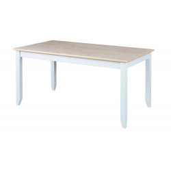 Table de cuisine contemporaine en pin massif blanc Esther I