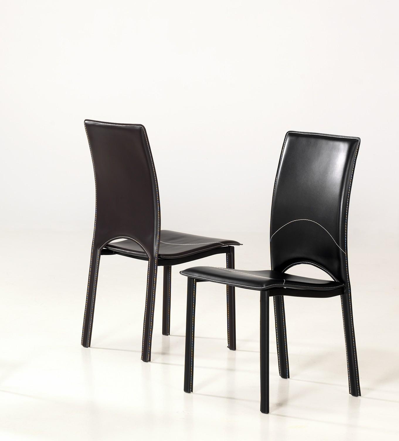 Chaises de salle à manger design noire (lot de 4) Cheyenne