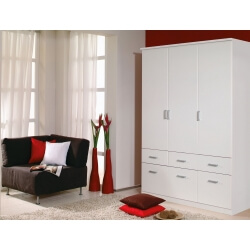 Armoire adulte contemporaine blanche Epsylon III