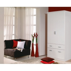 Armoire adulte contemporaine blanche Epsylon II