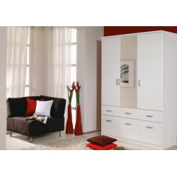 Armoire adulte contemporaine blanche Epsylon