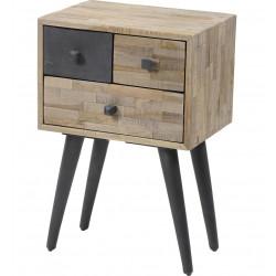 Meuble de rangement d'appoint scandinave en bois 3 tiroirs Lola
