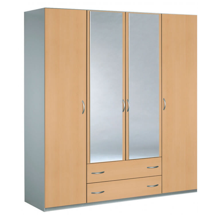 Armoire adulte contemporaine coloris érable Nala