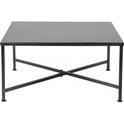 Table basse contemporaine en métal noir Marina