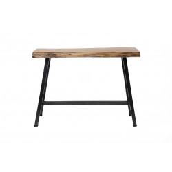 Table de bar vintage en bois massif d'acacia Eddy