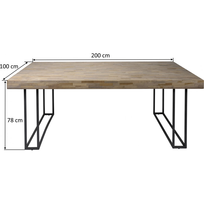 Table de salle manger contemporaine en bois avec pi tement en acier pascale matelpro - Table salle a manger bois acier ...