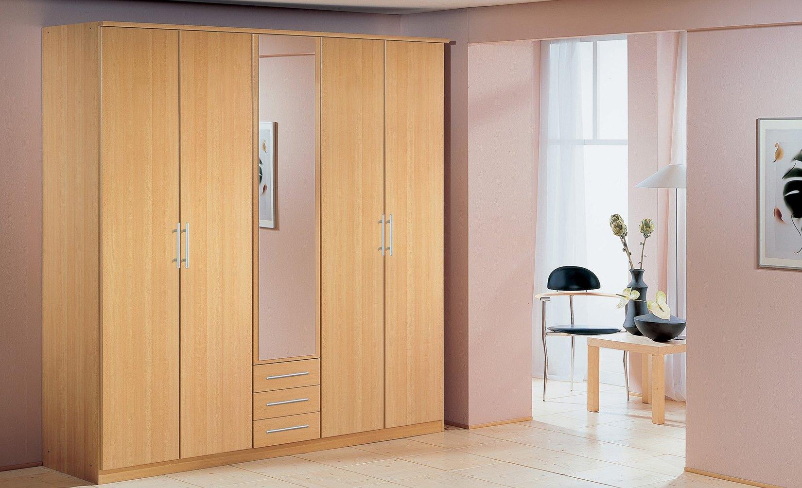 Armoire 5 portes & 3 tiroirs LAURA II