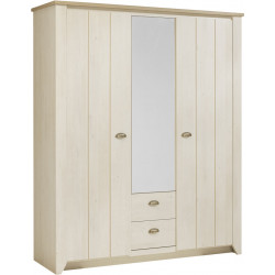 Armoire adulte style campagne chêne blanchy Birdy