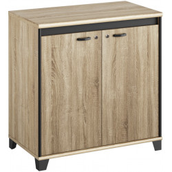 Armoire basse de bureau contemporaine Angelo