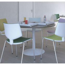 Table de réunion ronde 116 cm acacia clair Erika