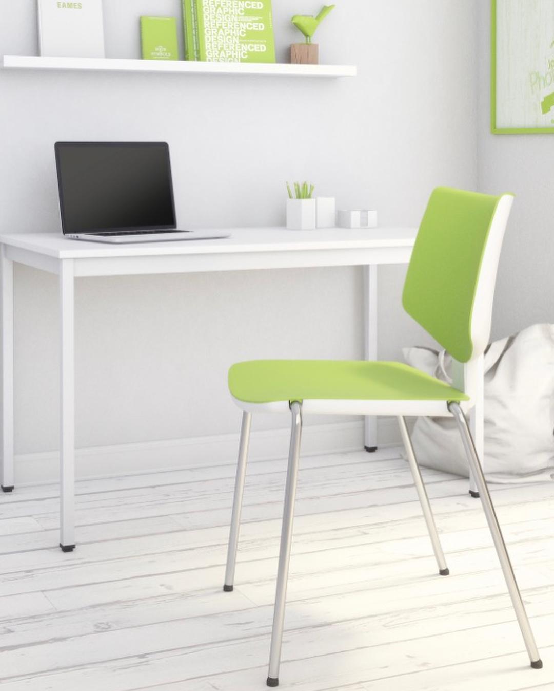 Chaise d'accueil design métal et PVC Kenza