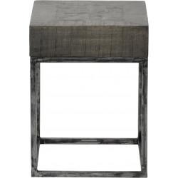 Table d'appoint carrée vintage en bois Jeannine