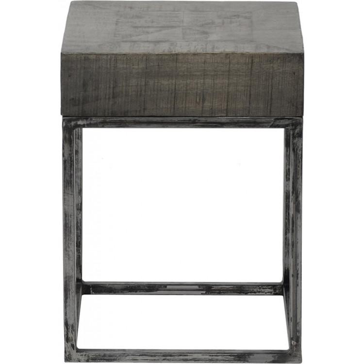 Table D Appoint Carree Vintage En Bois Jeannine Matelpro
