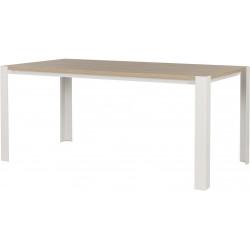 Table de salle à manger scandinave chêne clair/blanc Dauphine