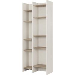 Bibliothèque scandinave chêne clair/blanc Dauphine