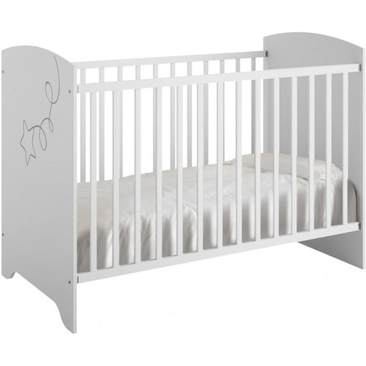 Lit bébé à barreaux contemporain blanc Licorne