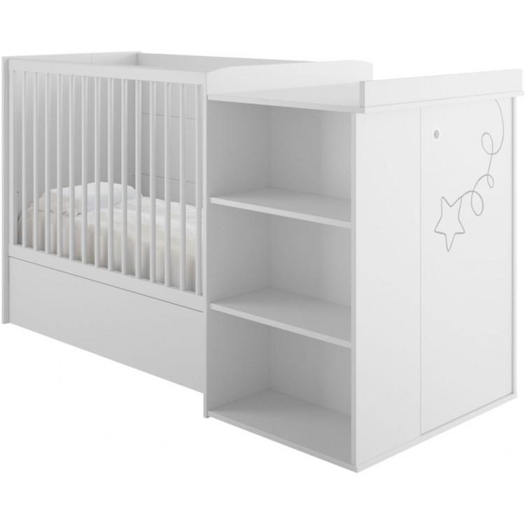 Lit combiné bébé contemporain blanc Licorne