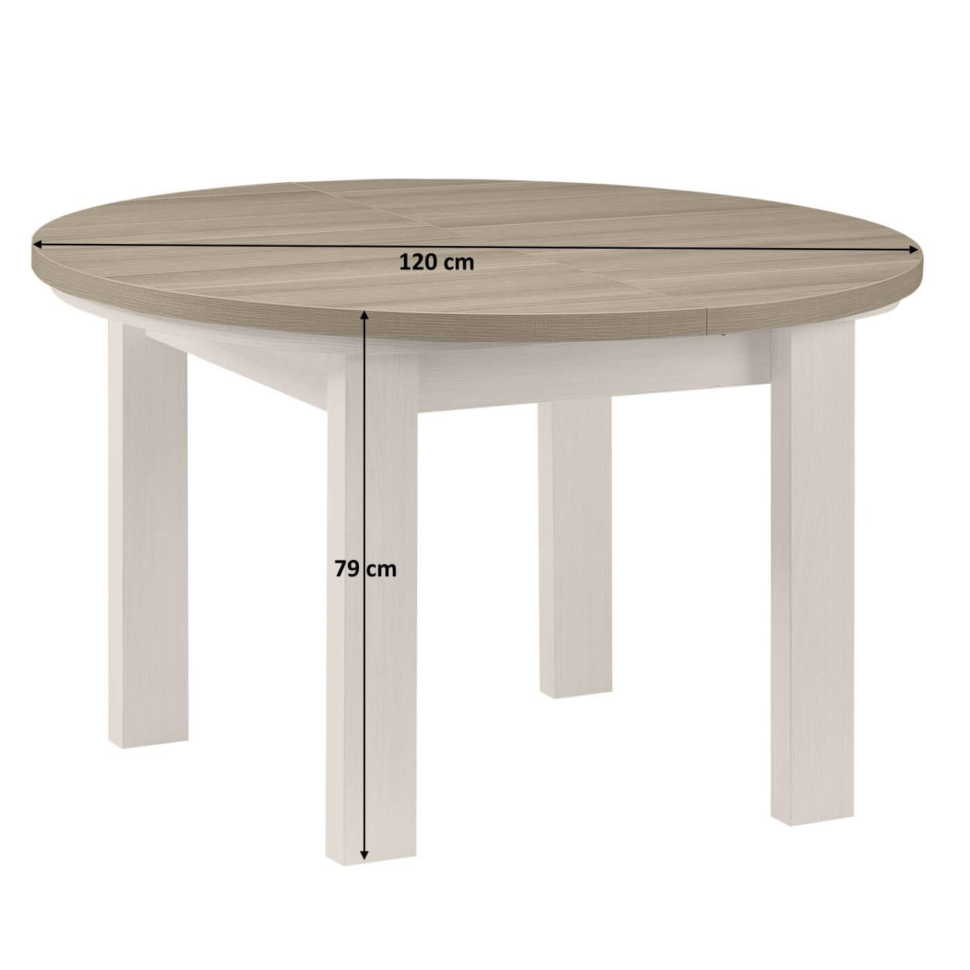 Table ronde de salle manger contemporaine palerme matelpro - Table ronde salle a manger ...