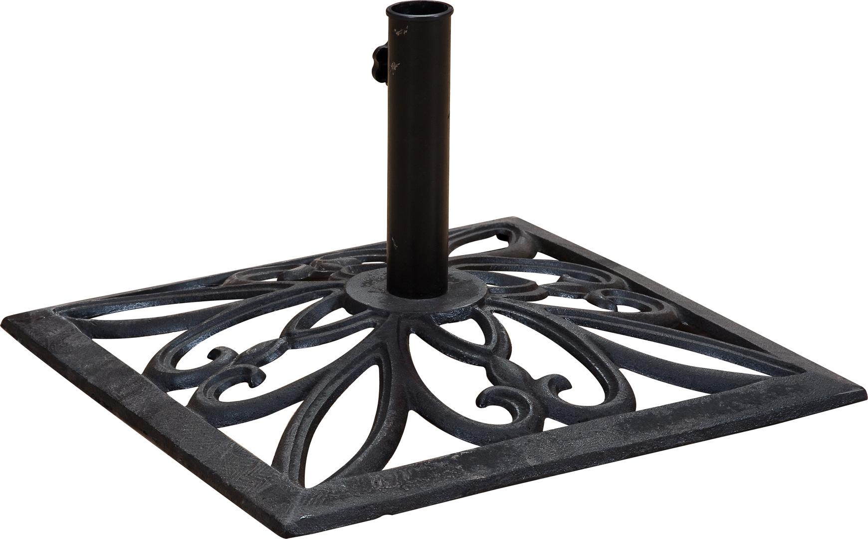 Pied de parasol carré en bronze