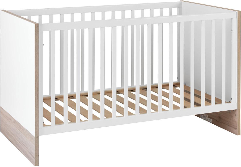 Lit bébé évolutif contemporain blanc Grichka