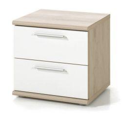 Chevet contemporain chêne clair/blanc Square