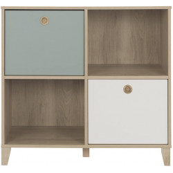 Commode enfant scandinave chataignier naturel Eugénie