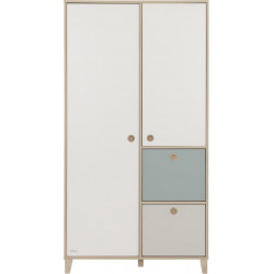 Armoire enfant scandinave chataignier naturel Eugenie