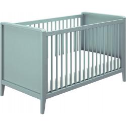 Lit bébé évolutif moderne bleu aqua Eugénie