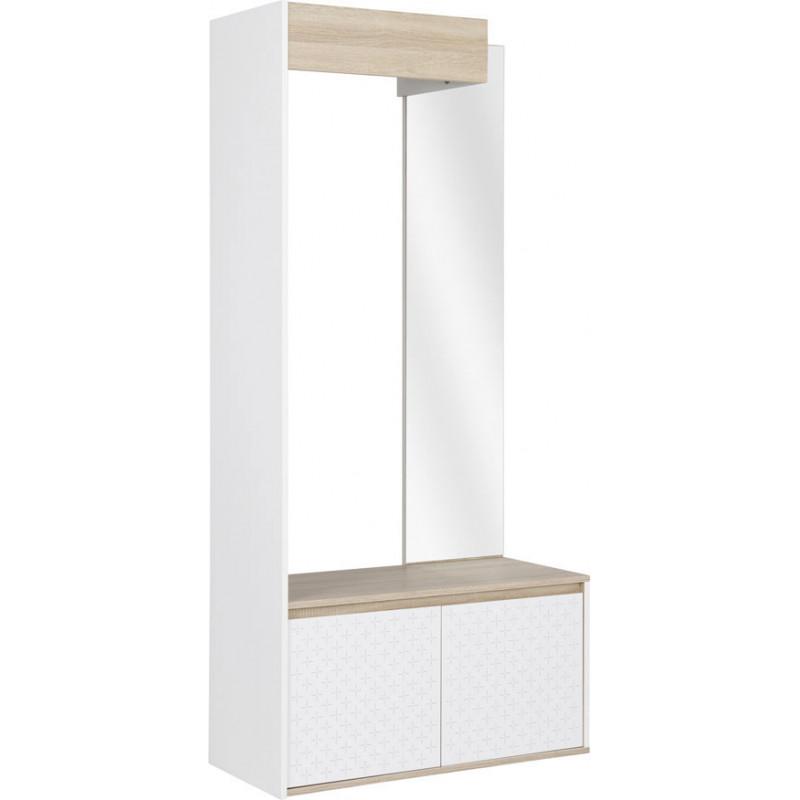 chiffonnier scandinave ch ne clair blanc axelina matelpro. Black Bedroom Furniture Sets. Home Design Ideas