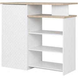 Comptoir de bar scandinave chêne clair/blanc Axelina