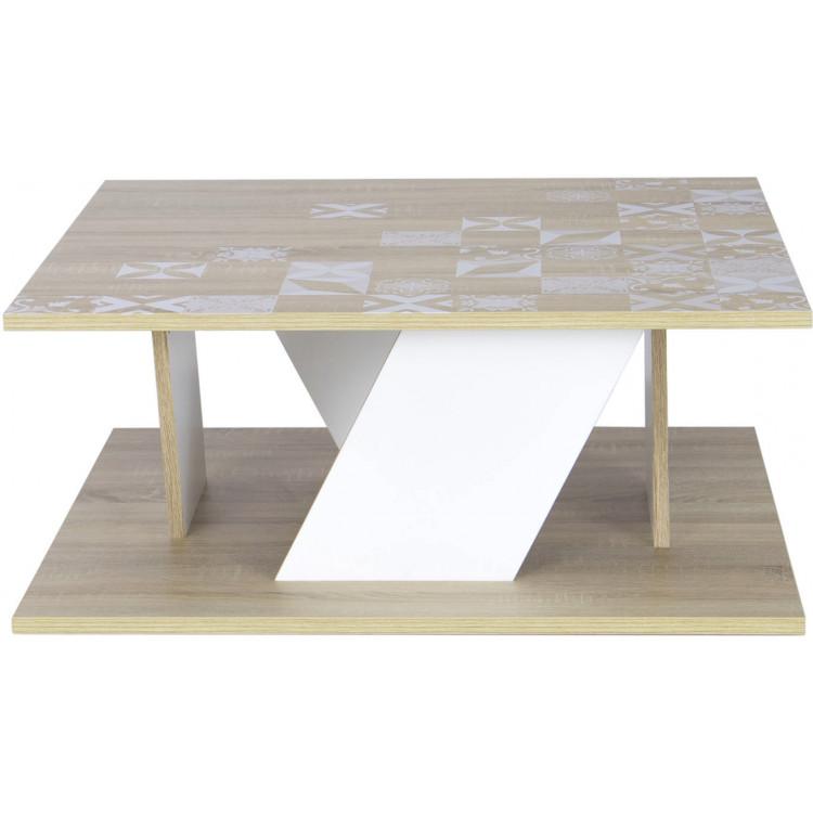 Table basse scandinave carrée chêne clair Viola I