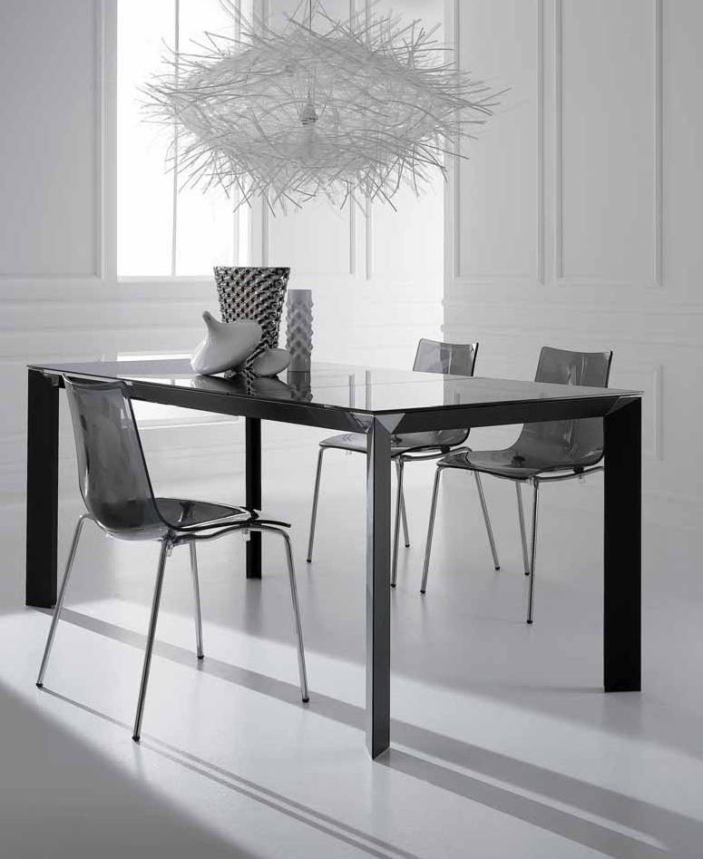 Table salle à manger avec allonge DIAMOND-Noir