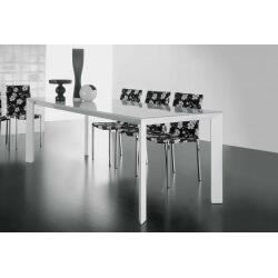 Table salle à manger avec allonge DIAMOND-Blanc