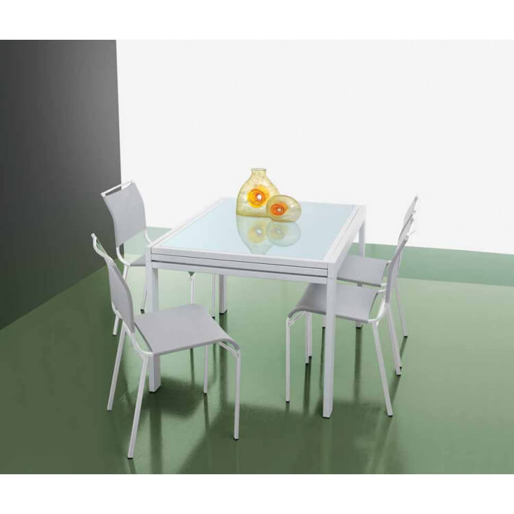 Table salle à manger avec allonge FAST-90 (+90) x 90 cm
