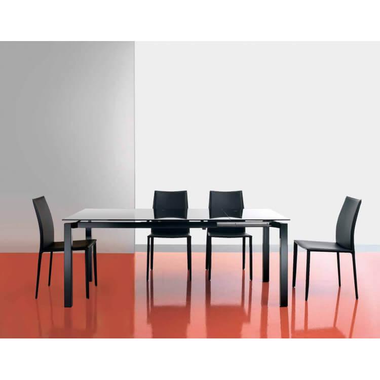 Table salle à manger avec allonge JUST-Noir