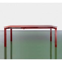 Table salle à manger avec allonge JUST-Rouge